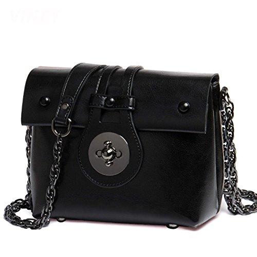 Marée Black Bag Main à à Petit Chaîne Sac KYOKIM Messenger Femmes Sac Cuir Mode Sac En Bandoulière BaqnZAHw