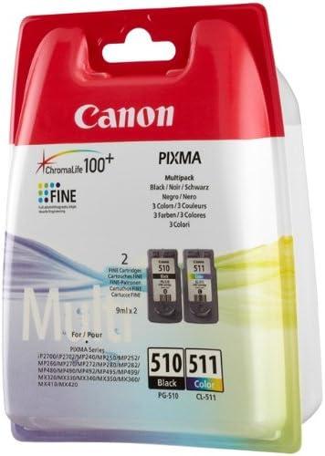 Canon PG-510 / CL-511 - Cartucho de Tinta para impresoras (Negro ...