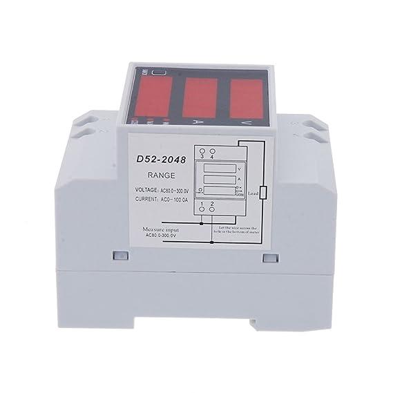 Kkmoon D52-2048 - Multímetro Digital (AC 80-300V 100A): Amazon.es: Bricolaje y herramientas