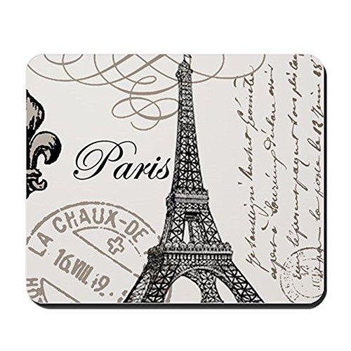 Fleur Lis Vintage Flats De (CafePress - Vintage Paris Eiffel Tower - Non-slip Rubber Mousepad, Gaming Mouse Pad)