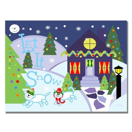 Trademark Fine Art Let it Snow II by Grace Riley Canvas Wall Art, 35x47-Inch