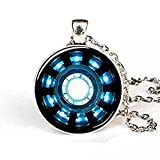 Tony Stark Arc Reactor Inspired Necklace Iron Man Round Arc Reactor