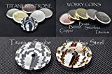 MetonBoss Spinning Strobe Effect Worry Coins - Titanium & Stainless Steel | Gift for him Metal Worrycoin Desktop Toy EDC Every Day Carry (Titanium Magenta Anodized)