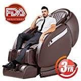 Massage Chair Recliner, Zero Gravity Full Body SL-Track, Shiatsu Electric Massage Chair with Stretching, Tapping, Heating,Yoga Massage Back and Foot Massagers (brown)