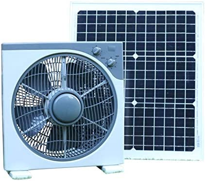 PK Green Ventilador Solar 12V con Panel Solar 20W para Caravana, Invernadero, Coche, Camper, Barco | Ventilador 12V Solar CC Portátil Exterior para Casa, Camping | 39 x 38 cm: Amazon.es: Hogar