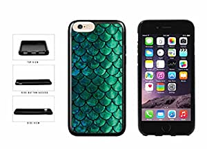 Pretty Green and Blue Mermaid Scales TPU RUBBER Phone Case Back Cover Apple iPhone 6 Plus (5.5 Inches) includes BleuReign(TM) Cloth and Warranty Label