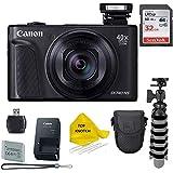 Canon PowerShot SX740 HS Digital Camera (Black) with 32 GB Card + Camera Case + TopKnotch Bundle
