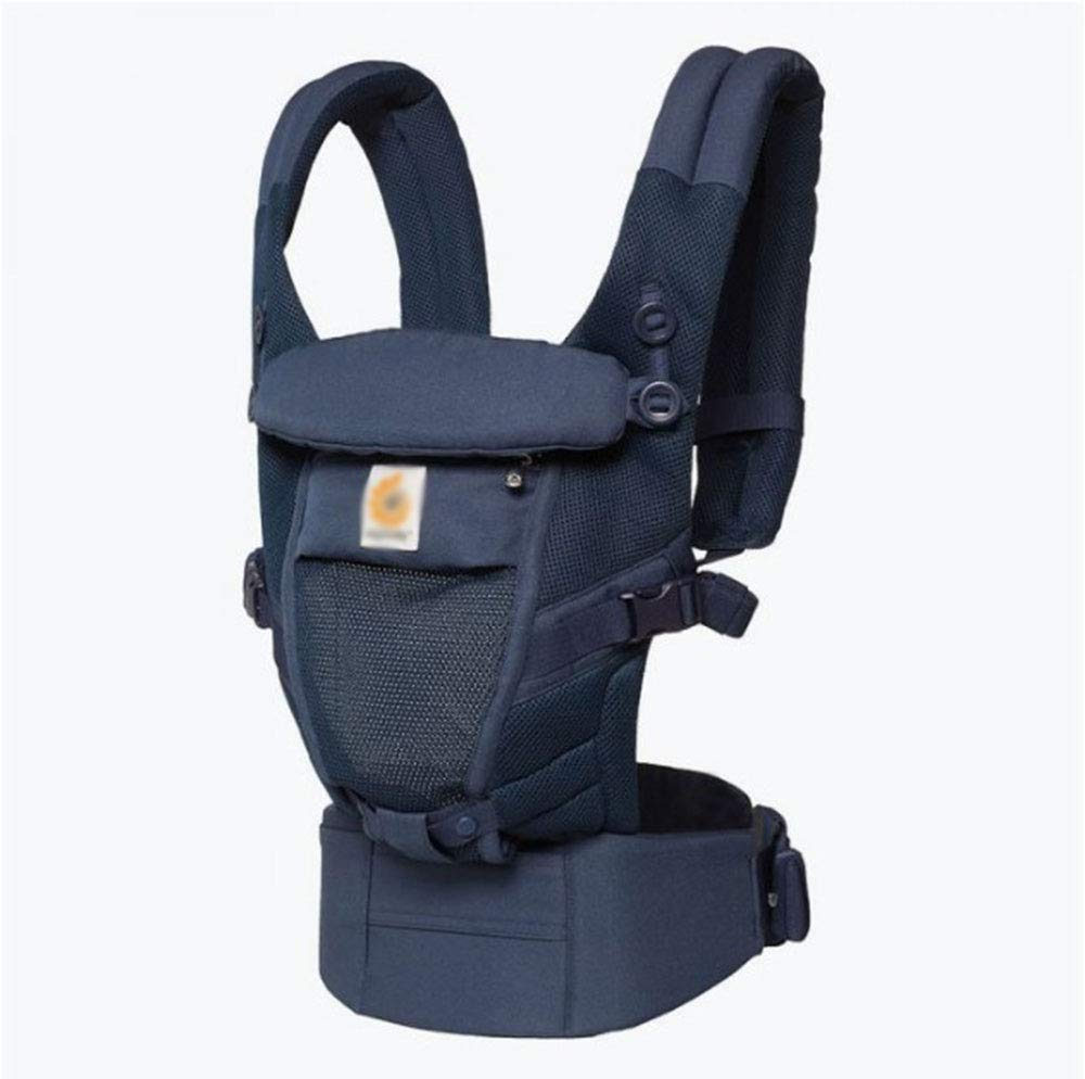 CPDZ Reise Baumwolle Babyträger Abnehmbare Baby-Träger Komfortabel Und Ergonomisch Kind Und Neugeborene Sling Multi-Position Tragen Sling Navy Blau
