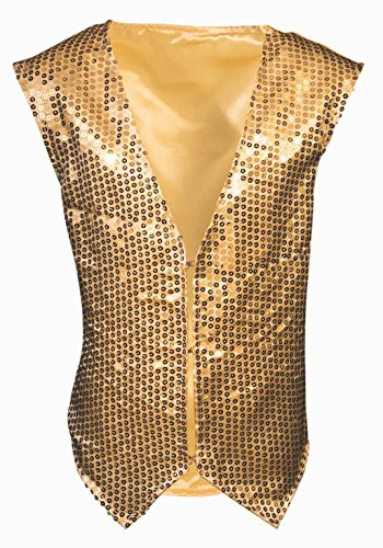 Forum Novelties Party Supplies 80815 Sequin Vest - Child, Gold, One
