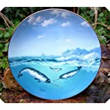 A Casey Unicorn of the Sea Save the Whales Plate