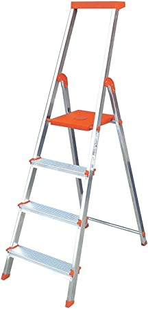 Escalera Rolser Aluminio BriColor 4 Peldaños - Mandarina: Amazon.es: Hogar