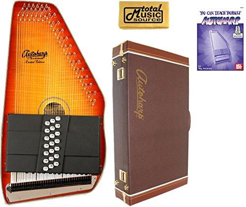 Oscar Schmidt 21 Chord Autoharp, Flame Maple Top, Honey Sunburst, OS11021FHS (Maple Sunburst Top Honey)
