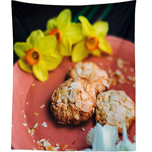 Westlake Art - Wall Hanging Tapestry - Plate Biscuit - Photography Home Decor Living Room - 26x36in ()
