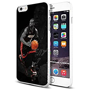 Basketball NBA Dwyane Wade 3 Miami Heat , , Cool iphone 6 4.7 Smartphone Case Cover Collector iphone TPU Rubber Case White [By PhoneAholic]