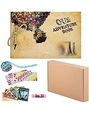 ZUNTO Album Fotografico Fai da Te, Adventure Book Scrapbook DIY, Forbici, Fascia Decorativa in Pizzo, Adesivi - Regalo di Compleanno/Laurea/Nozze