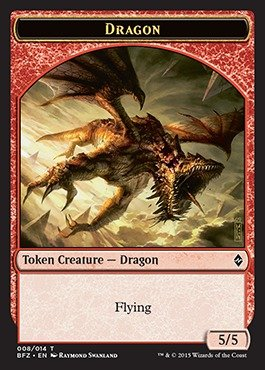 Magic: the Gathering - Dragon Token (008/014) - Battle for Zendikar