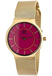 Danish Design Women's 26mm Gold-Tone Steel Bracelet & Case Quartz Pink Dial Analog Watch IV02Q732