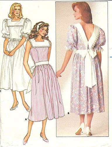 Butterick vintage 1980s sewing pattern 3675 pilgrim collar dress - Size (Pilgrim Collar Pattern)