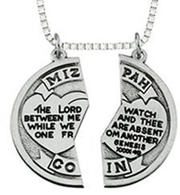 Amazon mizpah coin pendant pendant necklaces jewelry mizpah coin pendant aloadofball Choice Image