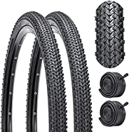 BUCKLOS [US Stock] K 1177 26 inch Mountain Bike Tires and Tube 26 x 1.95, Pair of Bike Tire Replacement, 2 Pac