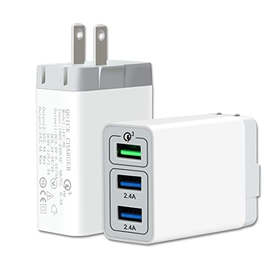 בלתי רגיל Amazon.com: Qualcomm QC3.0 Fast Wall Charger, OnKey 3 Ports USB FF-85