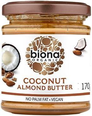 BIONA - Mantequilla de Coco y Almendra - Sin Aceite de Palma - Vegano - Excelente como Complemento y Spread - 170 gr