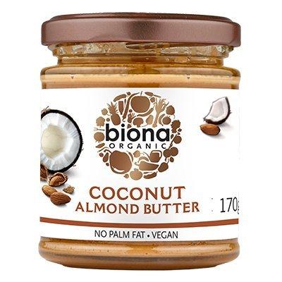 BIONA - Mantequilla de Coco y Almendra - Sin Aceite de Palma - Vegano - Excelente como Complemento y Spread - 170 gr: Amazon.es: Alimentación y bebidas