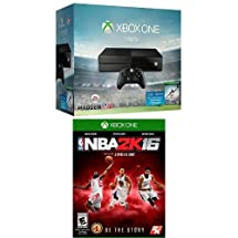 Xbox One 1TB Console - Madden NFL 16 Bundle + NBA 2K16 [Physical Disc]