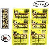 24 PCS Hunters Fly Trap , Fly Trap Tape, Fly Paper Strips , Fly Catcher Trap, Fly Ribbon, Fly Bait,Fly Catcher Ribbon
