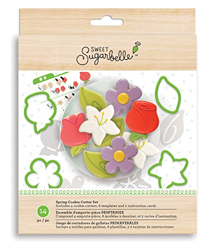 American Crafts Sweet Sugarbelle Cookie Cutters 14 Piece Spring Set (Cookies Unique)