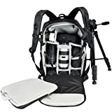 Genda 2Archer Universal DSLR Waterproof Camera Backpack for Sony Canon Nikon Olympus