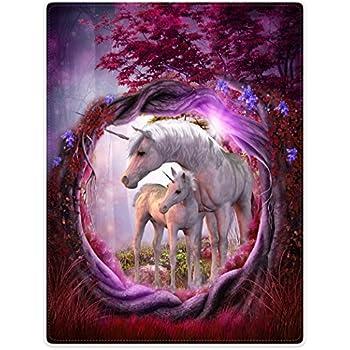 "CafePress - Enchanted Unicorns - Soft Fleece Throw Blanket, 50""x60"" Stadium Blanket best"
