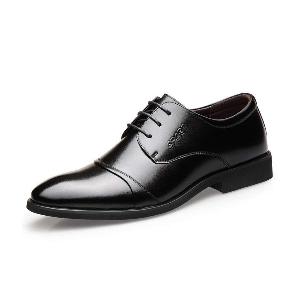 FuweiEncore Herren-Formale Schuhe, Frühlings Schuhe, Spitzen Schuhe, Spitze Zehenschuhe, Perfekt Für Einen Tag Im Büro,schwarz,40 (Farbe   Wie Gezeigt, Größe   Einheitsgröße)