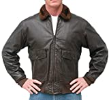 San Diego Leather Jacket Factory G1 Navy Leather Flight Jacket -Dark Brown-42