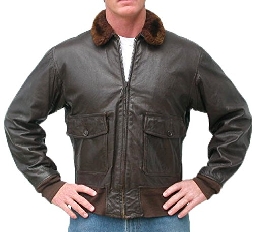 San Diego Leather Jacket Factory G1 Navy Leather Flight Jacket -Dark (Navy Flight Jacket)