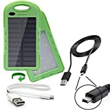 dual USB 2 Amp charge ports portable IP65 waterproof power bank 22Wh battery pack charger with solar trickle charge designed for the iRex Digital Reader 800