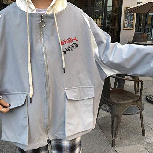 Tasche Outerwear Giacche Cappuccio Ragazze Donna Con Cappotto Giacca Fashion Autunno Incappucciato Grau Eleganti Tendenza Lunghe Primaverile Lannister Maniche Casual Stampate Ragazza Harajuku HwPqHdC