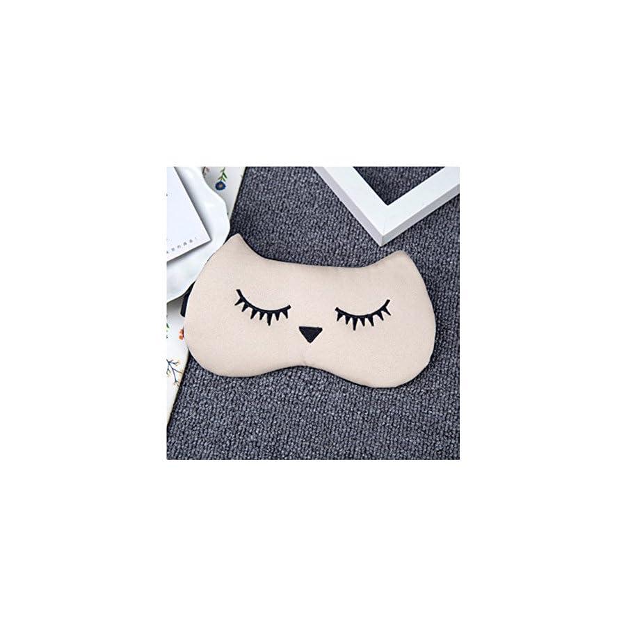 DUNAN Silk Eye Mask Soft Eye Bags Adjustable Sleeping Blindfold for Kids Girls Adult for Yoga Traveling Sleeping Party Hot steam eye mask [Ice patch]148