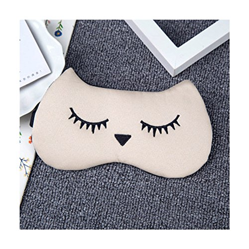 DUNAN Silk Eye Mask Soft Eye Bags Adjustable Sleeping Blindfold for Kids Girls Adult for Yoga Traveling Sleeping Party Hot steam eye mask [Ice patch]148
