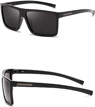 Black Square Sunglasses Mens Polarised Vintage Retro