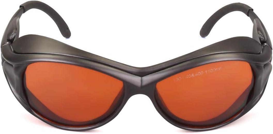 OD 6+ 190nm-550nm / 800nm-1100nm Wavelength Professional Laser Safety Glasses for 405nm, 450nm, 532nm, 808nm,980nm,1064nm, 1080nm, 1100nm Laser (Style 2)