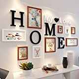 Home@Wall photo frame 9 pcs/sets Collage Photo Frame Set,Vintage Picture Frames,Family Picture Frame Wall,Wedding Photo Frames DIY Photo Frame Sets For Wall ( Color : E )