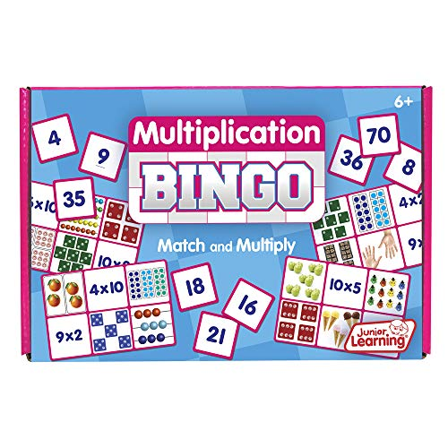 Junior Learning Multiplication Bingo Educational Action Games