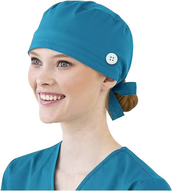GARYS Berretto Chirurgico Donna Poliestere Cappuccio Chirurgico with Fascia Regolabile per Fodera per Cappello Medico Cuffietta Chirurgica Cuffia Infermiera Bandana Chirurgiche 447600