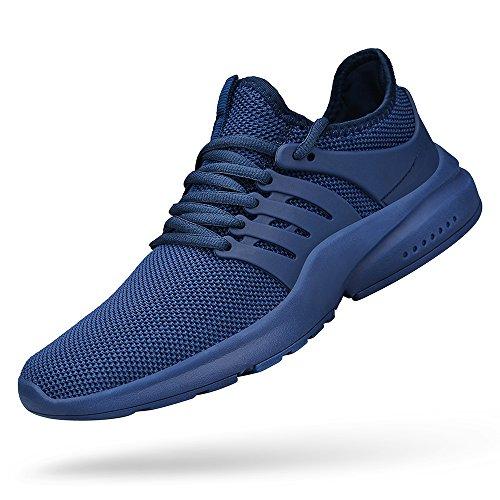 Feetmat Mens Athletic Running Walking Sport Shoes Blue 8.5
