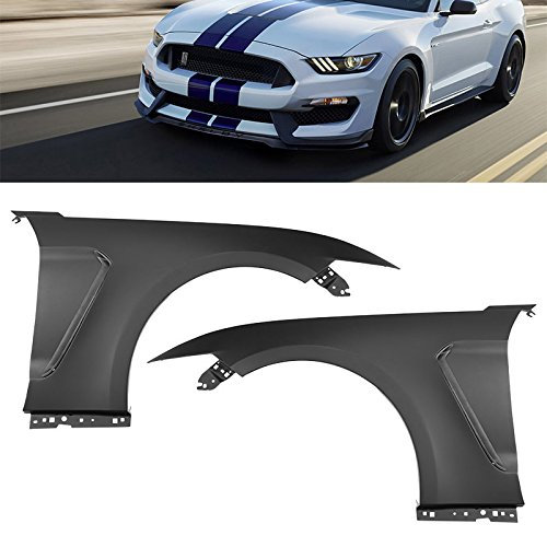 GT350 Style Fender Set For Ford Mustang 2015-2017 RH LH Combo Side Scoops Vent