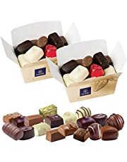 Leonidas Belgian Chocolates | NO Alcohol Assortment of Milk Chocolates, Dark Chocolates and White Chocolates in a Beautiful Gift Ballotin Box (2 x 16pc 500g)