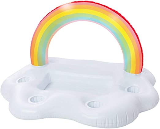 Summer Party Bucket Rainbow Cloud Portavasos Inflable Piscina Flotador Cerveza Bebida Enfriador Mesa Bar Bandeja Playa Natación Anillo-Multicolor (BCVBFGCXVB): Amazon.es: Hogar