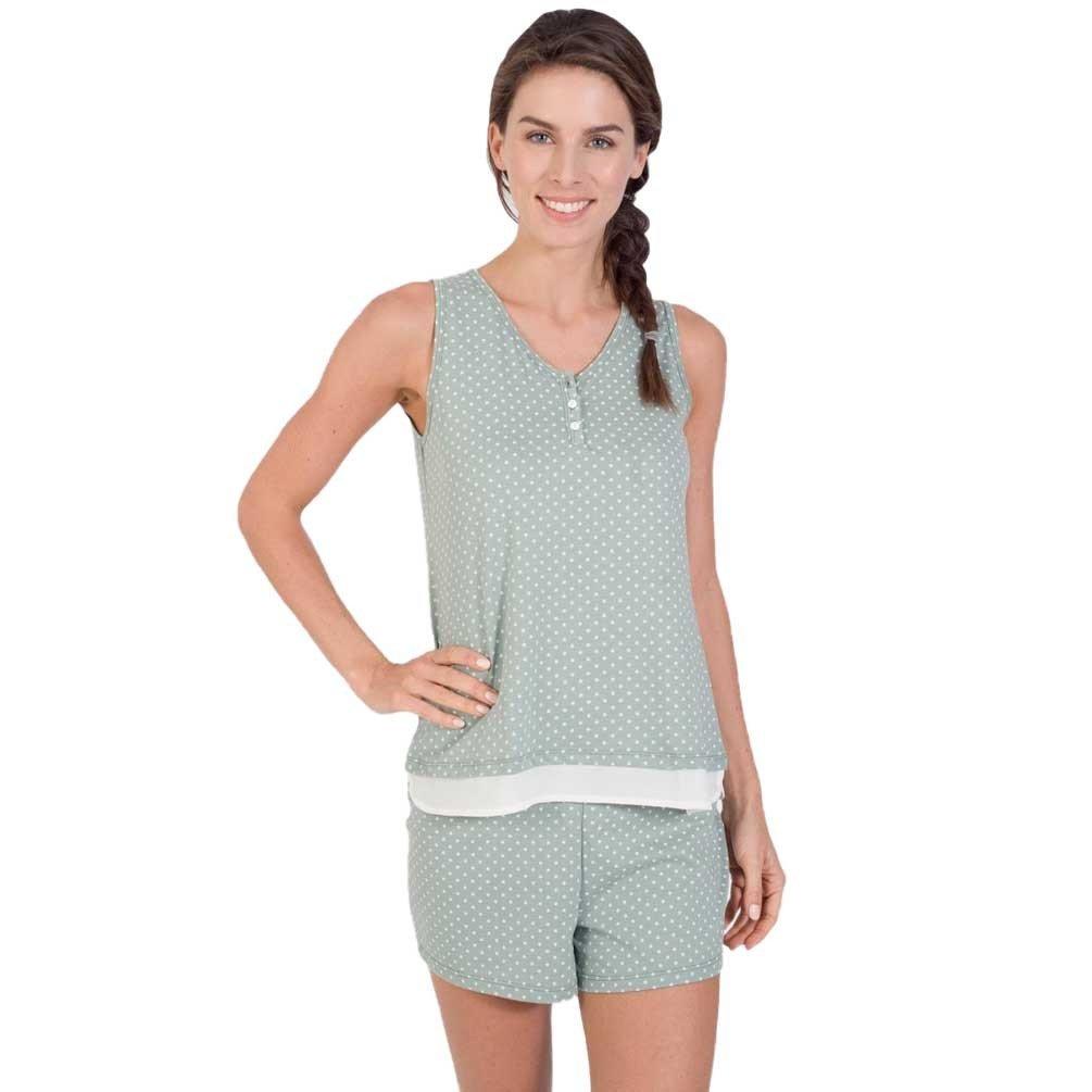 MASSANA Pijama de Mujer sin Mangas de motas P181250