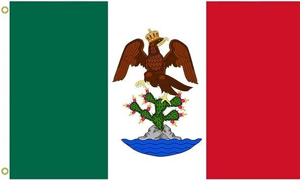 Gran bandera primer imperio mexicano Bandera al aire libre bandera bandera 3 x 5ft Banner: Amazon.es: Jardín